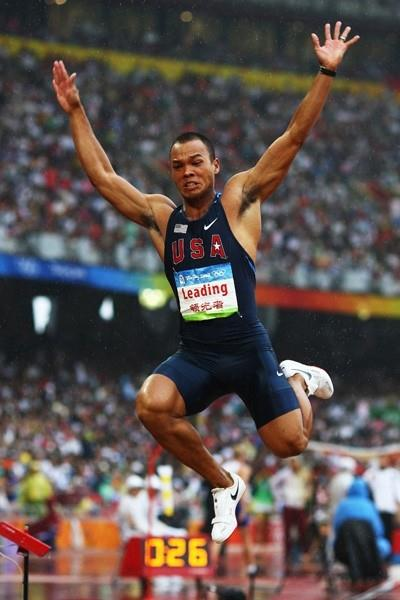 Bryan Clay maintains his lead in the decathlon after a 7.78m long jump (Getty Images)
