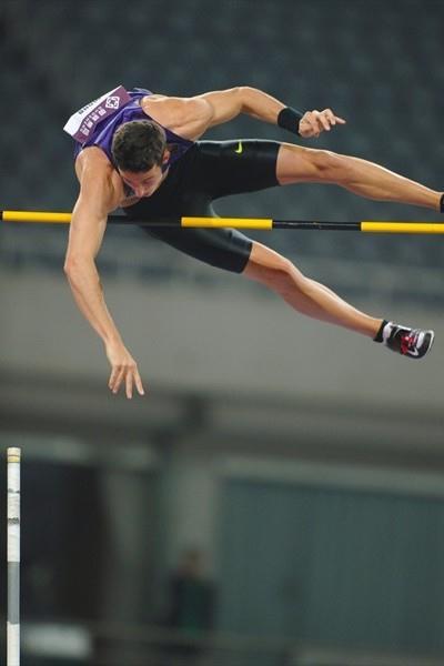 Malte Mohr taking the win in Shanghai (Errol Anderson)