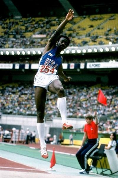 Larry Myricks of the USA at the 1979 World Cup (Getty Images)