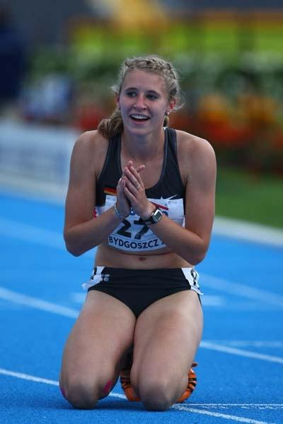 Carolin Schafer of Germany wins the Heptathlon (Getty Images)