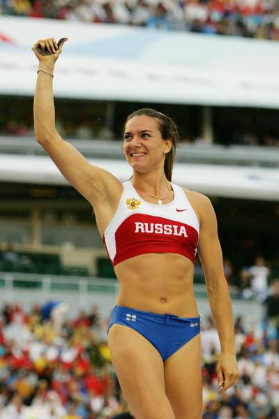 Yelena Isinbayeva after winning her first European title in Gothenburg (Getty Images)