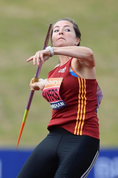Goldie Sayers throws 62.75m to win her 11th British javelin title (Getty Images)