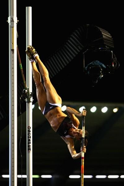 All eyes were on Yelena Isinbayeva as she attempted a would-be world record of 5.07m in the pole vault (Getty Images)