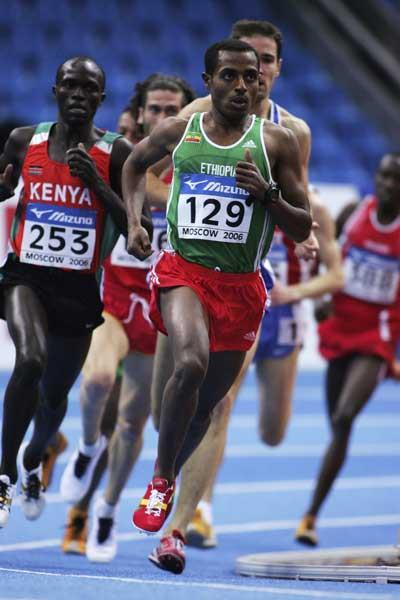 Kenenisa Bekele of Ethiopia in action during the men's 3000m heats (Getty Images)