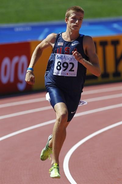 Casimir Loxsom of the USA in action in his 800m heat (Getty Images)