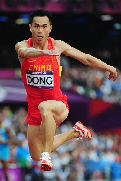 Bin Dong of China competes during the Men's Triple Jump Final on Day 13 of the London 2012 Olympic Games at Olympic Stadium on August 9, 2012 (Getty Images)