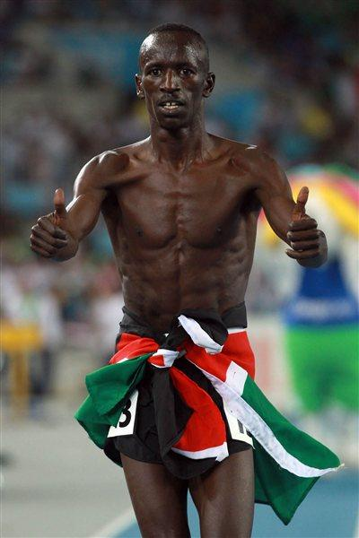 Ezekiel Kemboi of Kenya won gold medal in the men's 3000 metres steeplechase final during day six  (Getty Images)