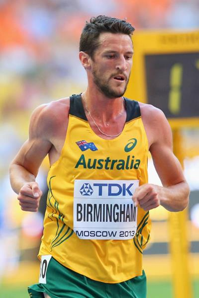 Collis Birmingham of Australia in the 10,000m at the 2013 IAAF World Championships in Moscow (Getty Images)