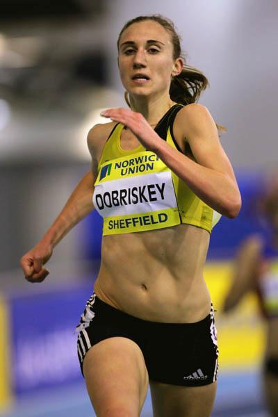 Lisa Dobriskey kicks to a 8:55.22 PB in Sheffield (Getty Images)