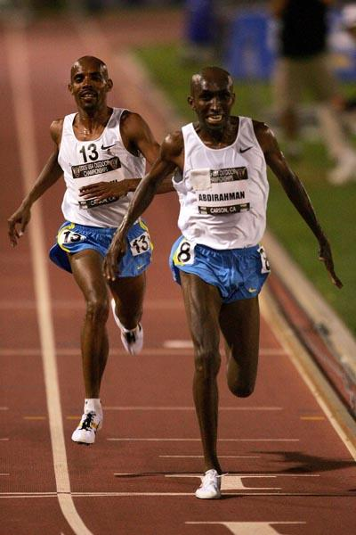 Abdi Abdirahman out-kicks Mebratom Keflezighi to win the US 10,000m title (Getty Images)