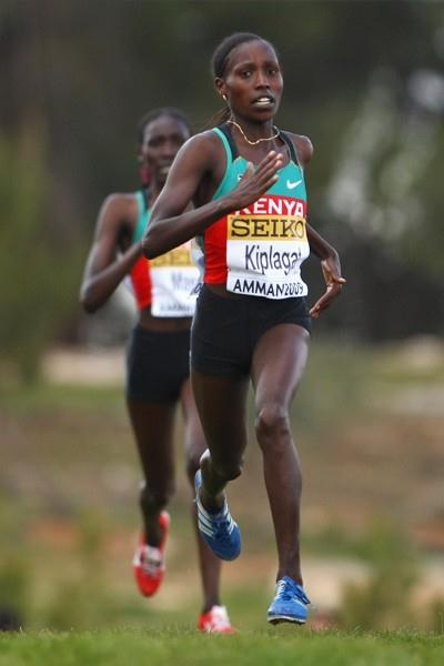 Florence Kiplagat takes Kenya's only individual victory of the day (Getty Images)