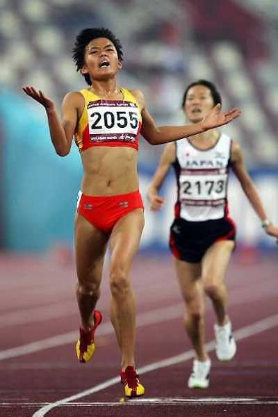 China's Xue Fei wins the women's 5000m at the Asian Games (Getty Images)