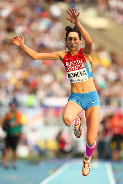 Ekaterina Koneva in the womens Triple Jump at the IAAF World Athletics Championships Moscow 2013 (Getty Images)