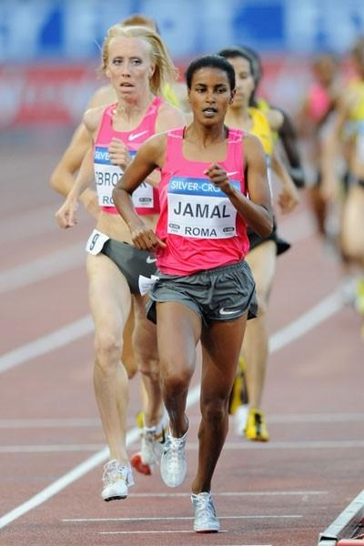 Maryam Yusuf Jamal clocks her second fastest ever time to win the 1500m (Getty Images)
