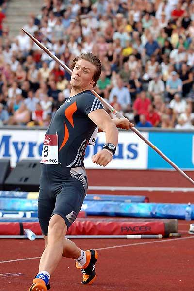 Andreas Thorkildsen of Norway hits the spear 89.78m in Stockholm (Hasse Sjögren)