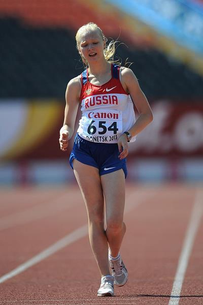 Olga Shargina, winner of the girls' 5000m race walk at the 2013 World Youth Championships (Getty Images)