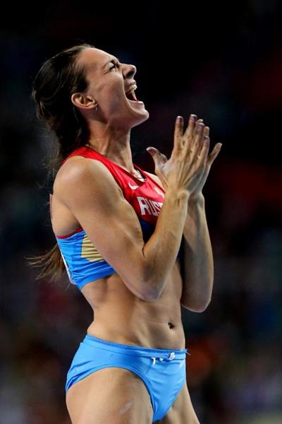 Elena Isinbaeva in the womens Pole Vault at the IAAF World Athletics Championships Moscow 2013 (Getty Images)