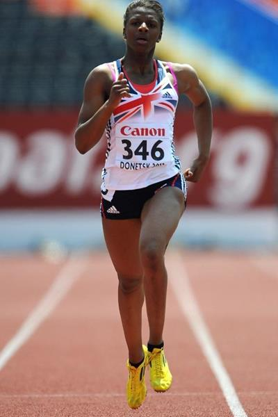 Britain's Sabrina Bakare in the 400m heats at the 2013 World Youth Championships (Getty Images)