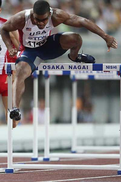 Terrence Trammell (USA) - 110m Hurs semi-final (Getty Images)