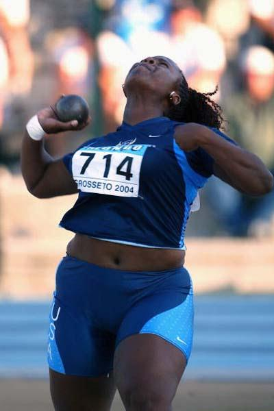 Michelle Carter of USA wins the Women's Shot Put Final (Getty Images)