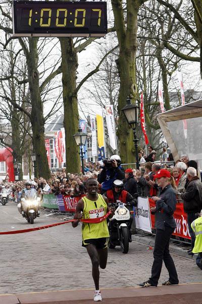 Patrick Makau Musyoki winning in The Hague (organisers)