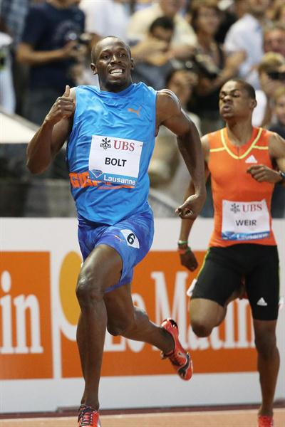 Usain Bolt 19.58 meeting record in Lausanne (Gladys Chai van der Laage)