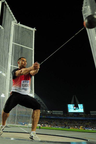 Koji Murofushi throws a season's best 81.24 to win gold in Daegu (Getty Images)