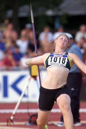 Debrecen 2001 - Kimberly Mickle (© Allsport)
