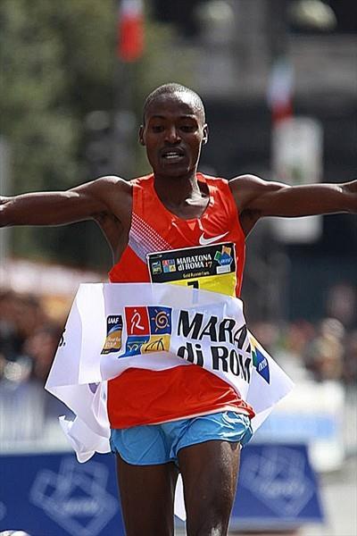 Dickson Chumba, the surprise winner at the Rome Marathon (Giancarlo Colombo/FIDAL)