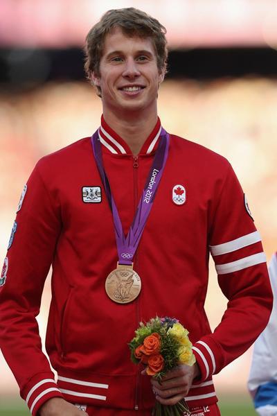 Derek Drouin, Olympic High Jump bronze medallist (Getty Images)