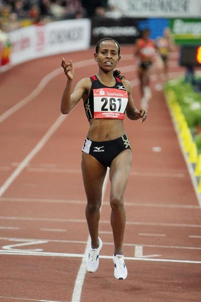 Meseret Defar, winner of the 3000m (Getty Images)