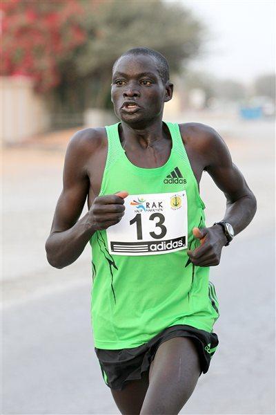 Dennis Kipruto Koech on his way to winning the 2012 RAK Half Marathon  (Victah Sailer)