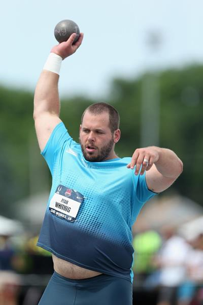 Ryan Whiting, winner of the Shot at the 2013 US Championships (Getty Images)