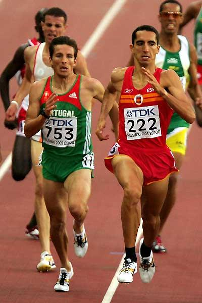 Arturo Casado of Spain running with Portugal's Rui Silva in Helsinki (Getty Images)