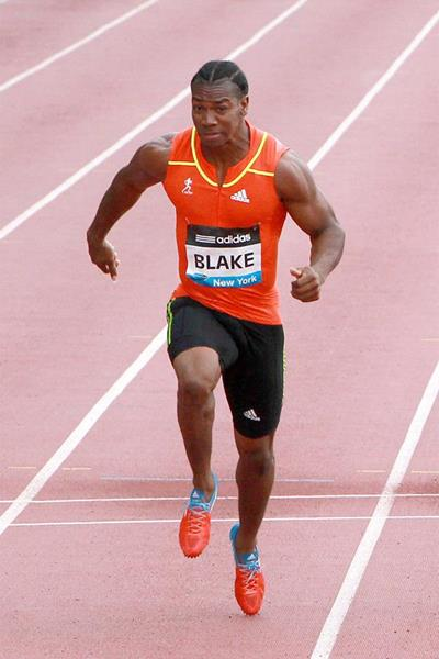 Yohan Blake on his way to victory at the 2012 IAAF Diamond League meeting in New York (Victah Sailer)