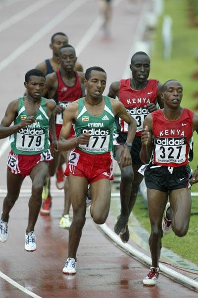 Tariku Bekele of Ethiopia in action in the 3000m final (Getty Images)