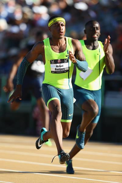 Mike Rodgers wins the US 100m title (Getty Images)