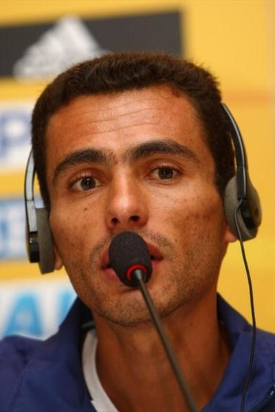 Marilson Gomes dos Santos (BRA) at the IAAF Press Conference in Rio (Getty Images)