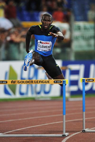 Kerron Clement ends Bershawn Jackson's Golden League jackpot hopes in the 400m hurdles (Getty Images)