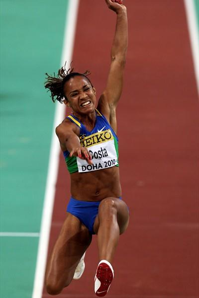 Keila Costa of Brazil takes bronze in the Women's Long Jump Final (Getty Images)