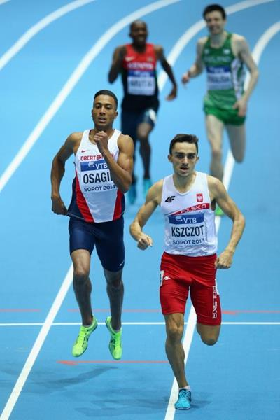 Adam Kszczot wins his 800m heat at the 2014 IAAF World Indoor Championships in Sopot (Getty Images)