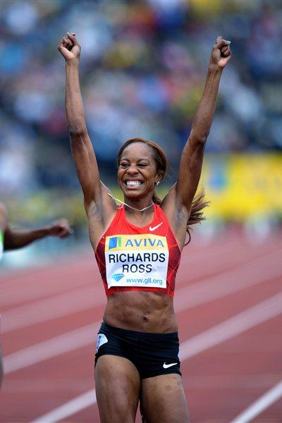 Familiar smile - Sanya Richards-Ross returns to sub-50 territory with big win in London (Mark Shearman)