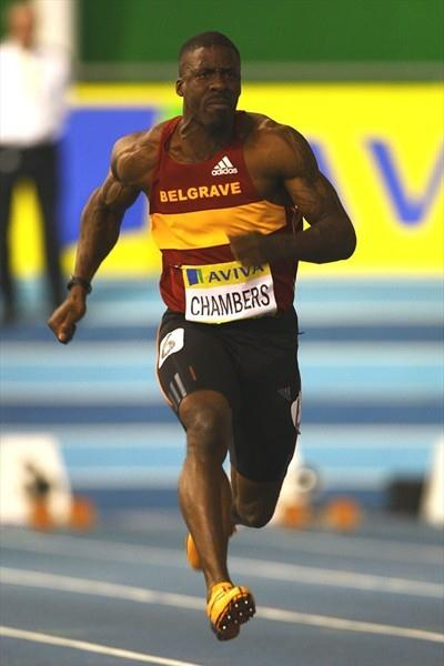Dwain Chambers en route to a 6.50 world leader in Sheffield (Getty Images)