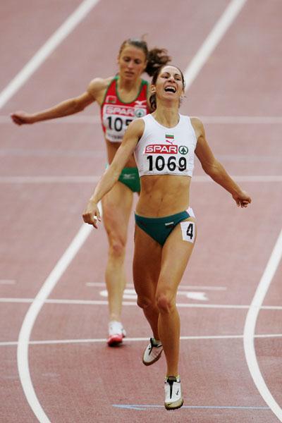 Vanya Stambolova winning 400m gold in Gothenburg (Getty Images)