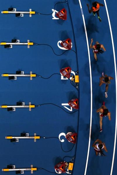 Athletes in the 3000m final at the 2014 IAAF World Indoor Championships in Sopot (Getty Images)
