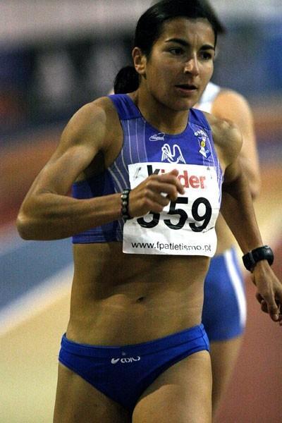 Vera Santos of Portugal at the national indoor club championships (Marcelino Almeida)
