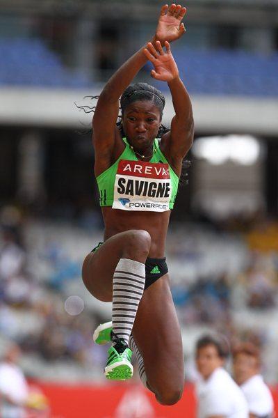 Yargelis Savigne, with a Triple Jump of 14.99 metres wins in Paris' Meeting Areva (Errol Anderson)