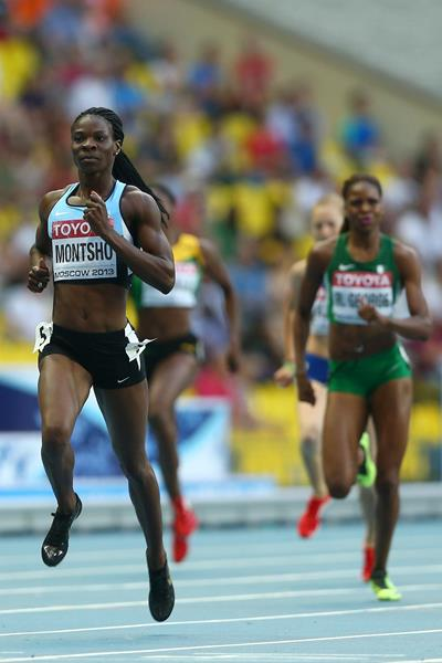 Amantle Montsho in the womens 400m at the IAAF World Championships Moscow 1013 (Getty Images)