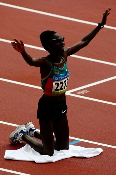 Catherine Ndereba of Kenya wins her second successive Olympic marathon silver medal (Getty Images)