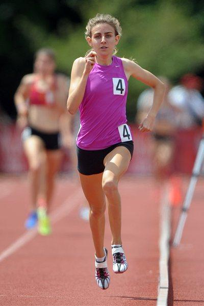 US junior 1500m winner Mary Cain (Kirby Lee - Image of Sport)